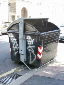 Broken down bin